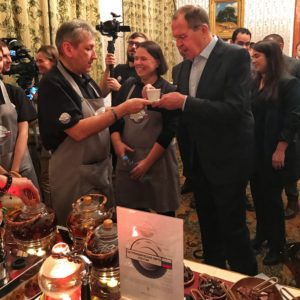 «Гастрономическая карта России» новогодний прием Министра иностранных дел РФ